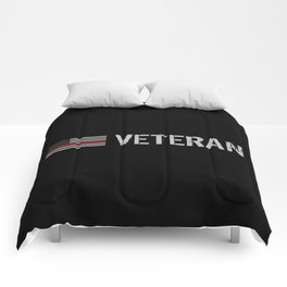 Firefighter Veteran: The Thin Red Line Comforters