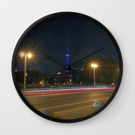 Nocturnal Landscape of Berlin Wall Clock