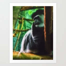 angry monkey Art Print