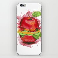 burger iPhone & iPod Skins featuring burger by JBdesign