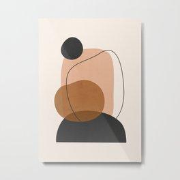 Minimal Abstract Art 12 Metal Print