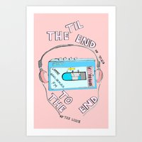 Music Til the End of Time , To the End of the Line Art Print