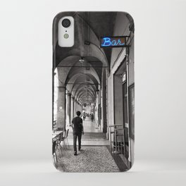 Black and white Bologna Street Photography iPhone Case