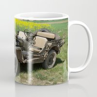 jeep Mugs featuring Willys MB Jeep by EMangl