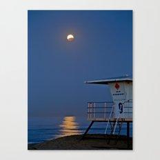 Blood Moon Eclipse Huntington Beach Canvas Print