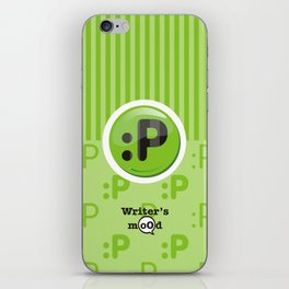 Green Writer's Mood iPhone Skin
