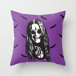 OZZY: Purple Sabbath Throw Pillow