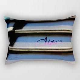 Purple Metallic Tagging Rectangular Pillow