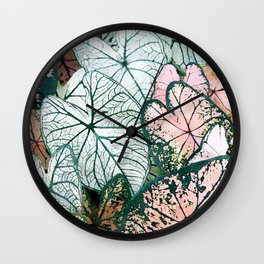 Angel Wings Foliage Wall Clock