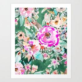 WANDERLUSH Colorful Floral Art Print