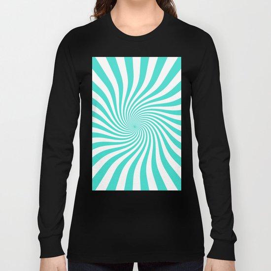 Swirl (Turquoise/White) Long Sleeve T-shirt