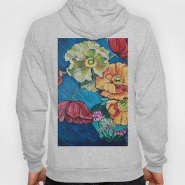 Poppies in Lotus Blossom Vase Hoody
