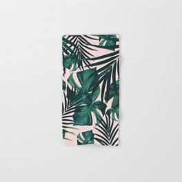 Tropical Jungle Leaves Pattern #5 #tropical #decor #art #society6 Hand & Bath Towel