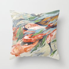 in the waterweeds Throw Pillow