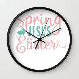 Kids Easter First Easter Spring Jesus Easter Wall Clock