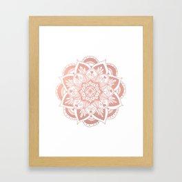 Flower Rose Gold Mandala Framed Art Print