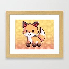 Kawaii Fox Framed Art Print