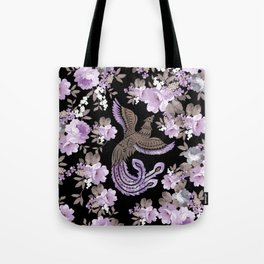 Phoenix Bird with watercolor flowers Tote Bag