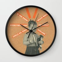 kim sy ok Wall Clocks featuring OK by Prints der Nederlanden