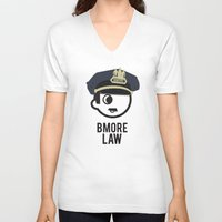 law V-neck T-shirts featuring BMORE LAW by O'Postrophy