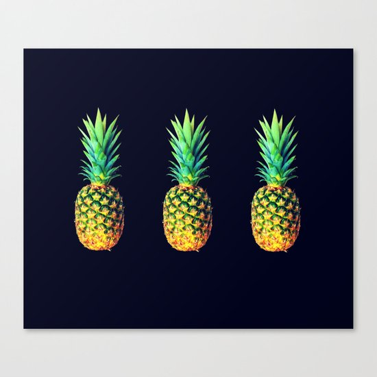 Night Knights Pineapples Canvas Print