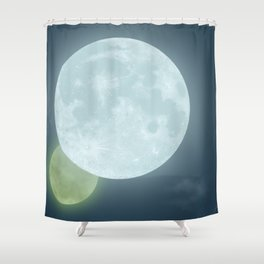 Two Moons Shower Curtain