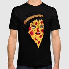 Pizza Minnelli Mens Fitted Tee LARGE Black