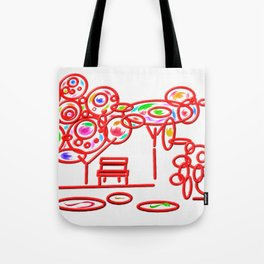 garth - garden pop colorful Tote Bag