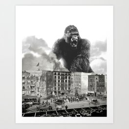 King Kong and the 1904 Fire Department Art Print