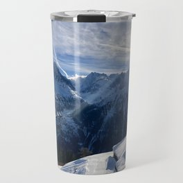 Winter Sun \\  French Alps Travel Mug