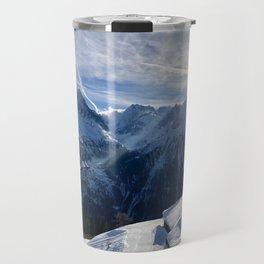 Winter Sun \\  French Alps Travel Mug