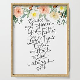 Grace & Peace Serving Tray