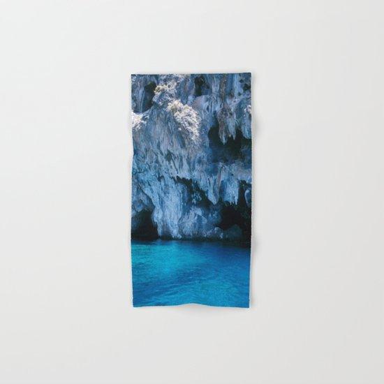 NATURE'S WONDER #3 - BLUE GROTTO #art #society6 Hand & Bath Towel