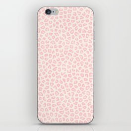 Modern ivory blush pink girly cheetah animal print pattern iPhone Skin