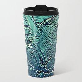 Japanese Bird Engraving Travel Mug