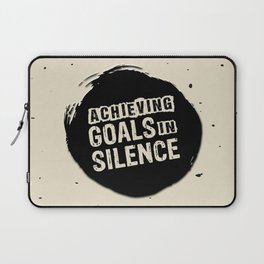 Achieving goals in silence Inspirational Life Success Quote Design Laptop Sleeve