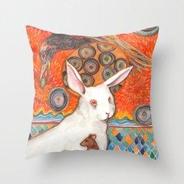 Mosaic Melody Throw Pillow