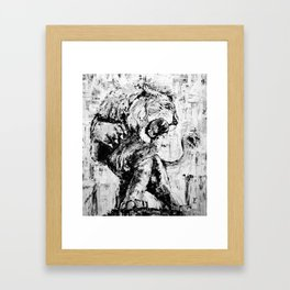 "Carmine the Lion ""Silver Version"" Framed Art Print"
