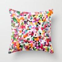 mosaic Throw Pillows featuring Mosaic by Laura Ruth