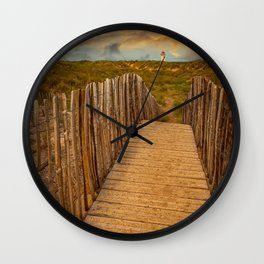Talacre Beach Lighthouse Sunset Wall Clock