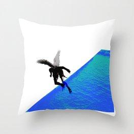 Icarian Fall#4: ABoyThatFellFromTheSky Throw Pillow