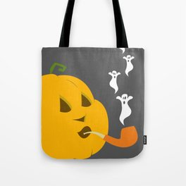 Halloween Smoking Jack o Lantern Tote Bag