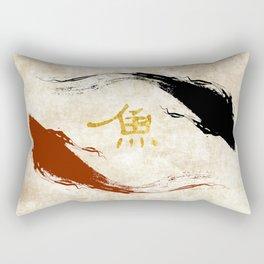 Koi Fish | Gold Rectangular Pillow