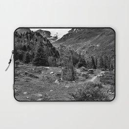 garden further alps kaunertal glacier tyrol austria europe black white Laptop Sleeve