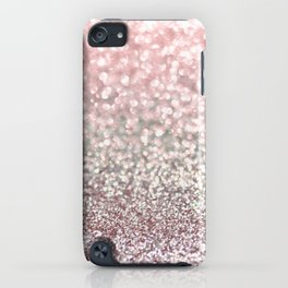 Girly Pink Snowfall iPhone Case