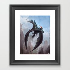 Dragon rider Framed Art Print
