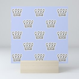 Crown pattern Mini Art Print
