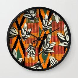 Kente Floral Wall Clock