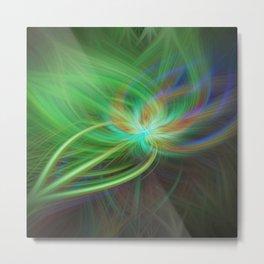 Peacock Blossom Metal Print