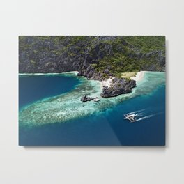 Island hopping around the Philippine Islands Metal Print
